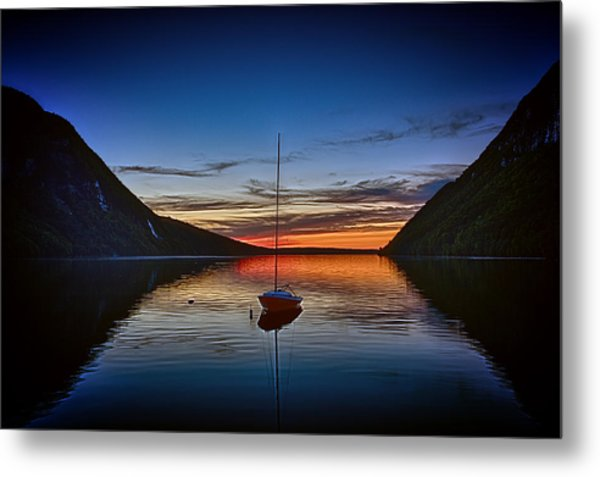 Sunset On Lake Willoughby Metal Print