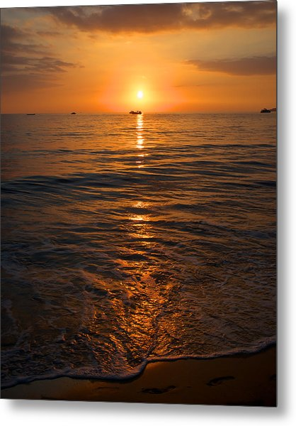 Sunset On Ma'alaea Bay Metal Print