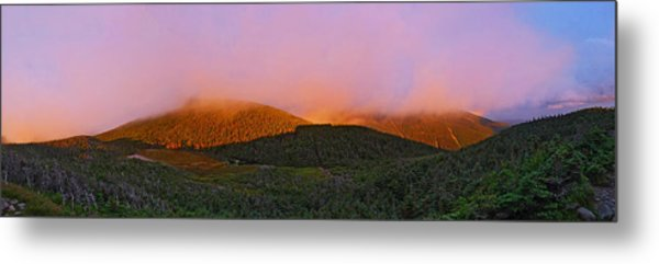 Sunset On Mount Lafayette Metal Print