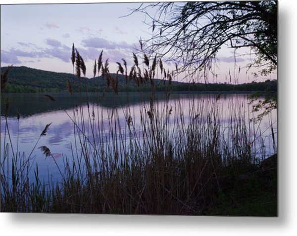 Sunset On Rockland Lake - New York Metal Print