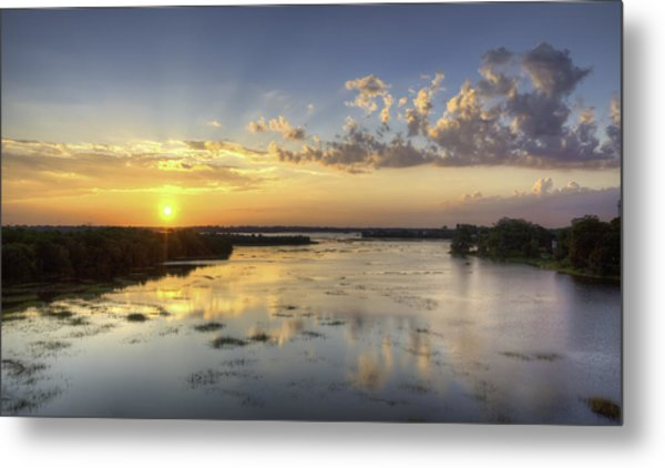 Sunset On The Ashley Metal Print