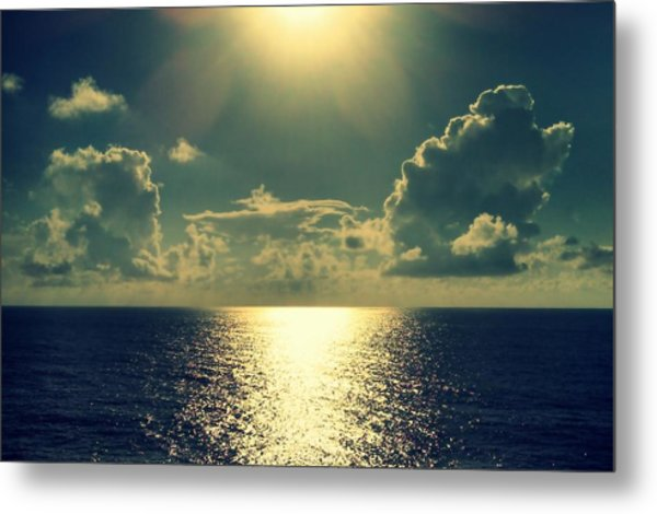 Sunset On The Atlantic Ocean Metal Print