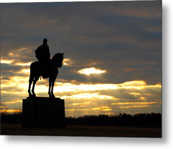 Sunset On The Battlefield Metal Print