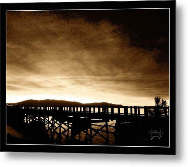 Sunset On The Boardwalk Metal Print
