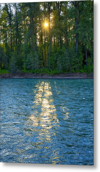 Metal Print featuring the photograph Sunset On The Bulkley by Mary Lee Dereske