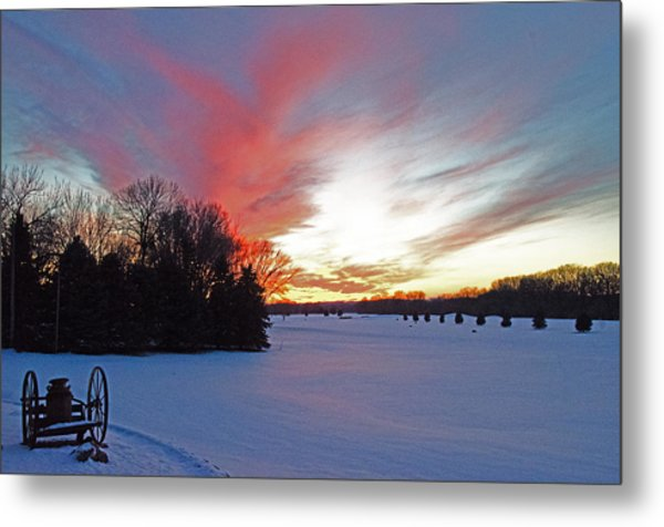 Sunset On The Golf Course Metal Print by Dan  Meylor