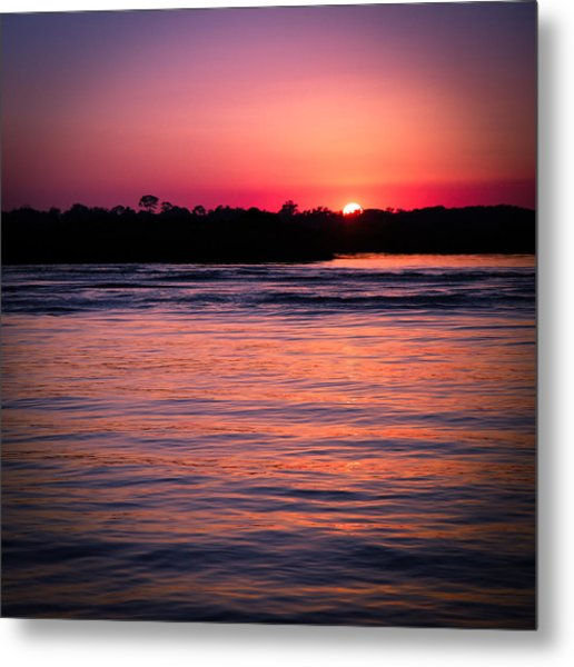 Sunset On The Halifax Metal Print
