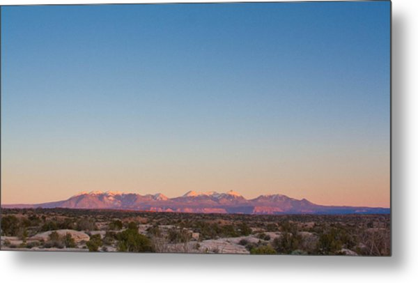 Sunset On The La Sal Mountains Metal Print