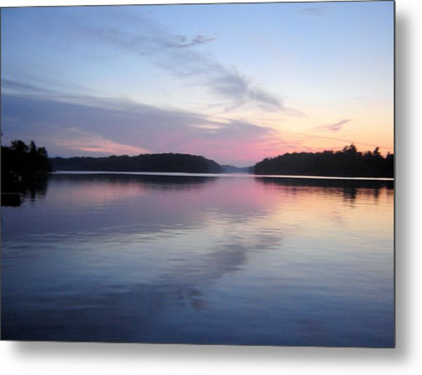 Sunset On The Lake 2 Metal Print by Gaetano Salerno