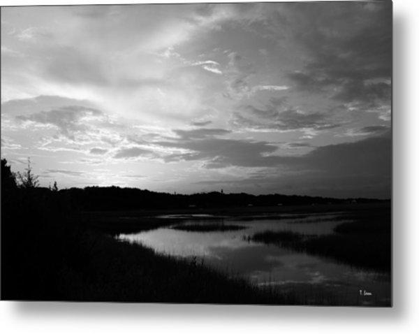 Sunset On The Marsh Metal Print by Thomas Leon