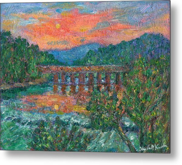 Sunset On The New River Metal Print