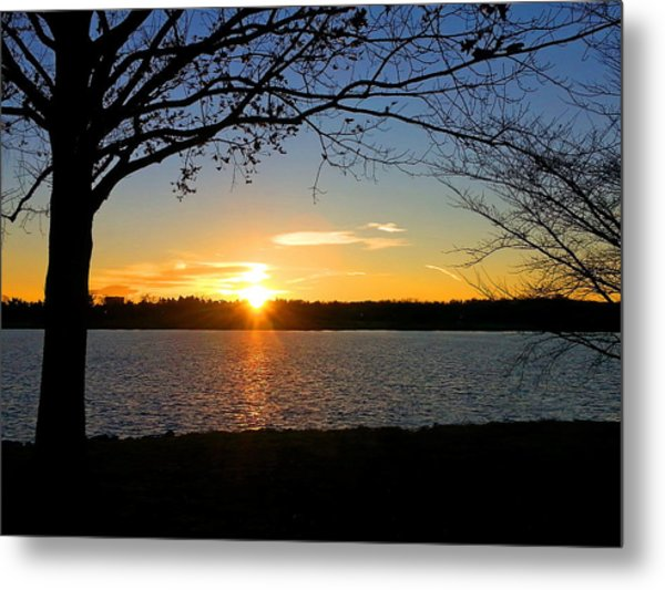 Sunset On The Potomac Metal Print