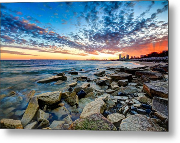 Sunset On The Rocks Metal Print by Anna-Lee Cappaert