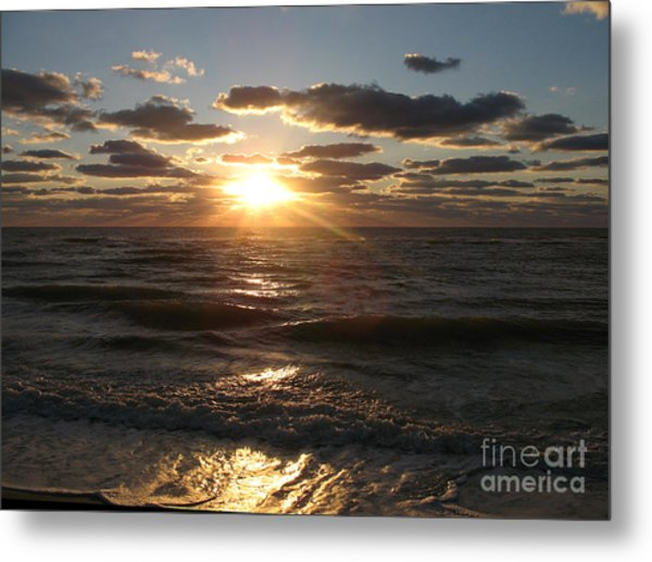 Sunset On Venice Beach  Metal Print