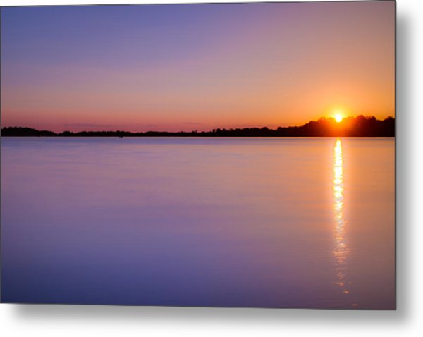 Sunset On White Bear Lake Metal Print