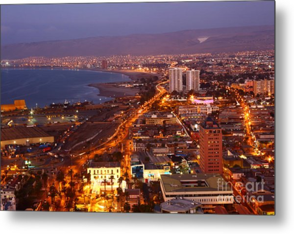 Sunset Over Arica Chile Metal Print