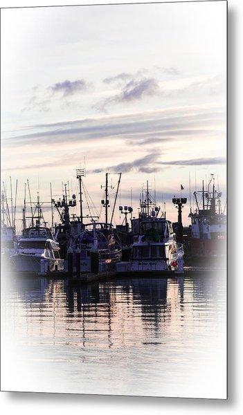 Sunset Over Bellingham Bay Metal Print