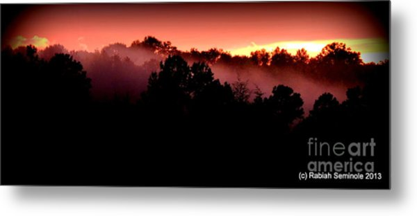 Sunset Over Blue Horse Rescue Metal Print