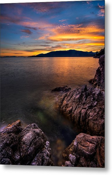 Sunset Over Bowen Island Metal Print