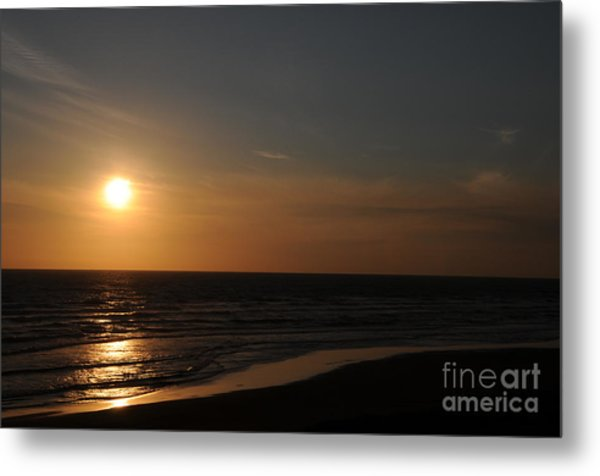 Sunset Over Calm Waters Metal Print
