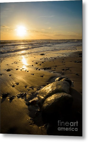 Sunset Over Christchurch Bay Metal Print by OUAP Photography