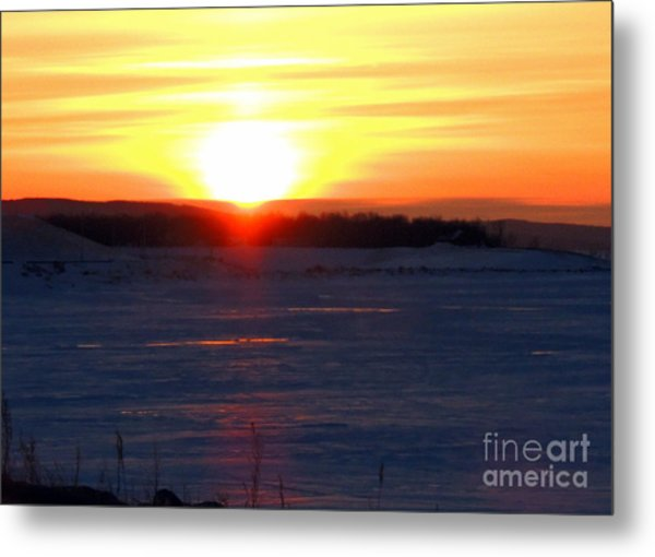 Sunset Over Devils Lake Metal Print