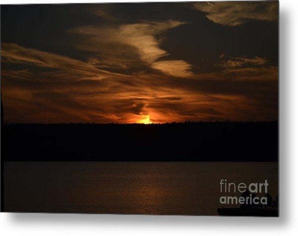 Sunset Over Door County  Metal Print