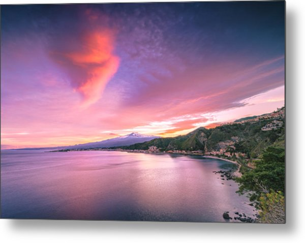 Sunset Over Giardini Naxos Metal Print