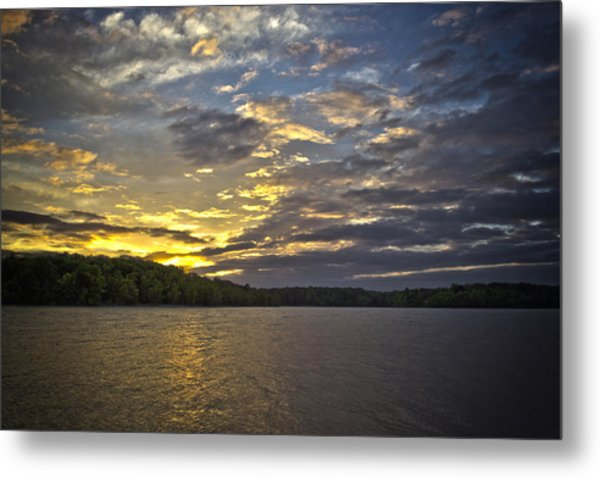 Sunset Over Kerr Lake Metal Print