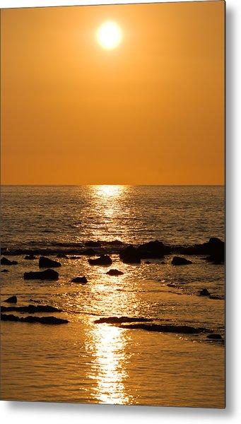 Sunset Over Kona Metal Print