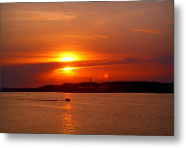 Sunset Over Lake Ozark Metal Print