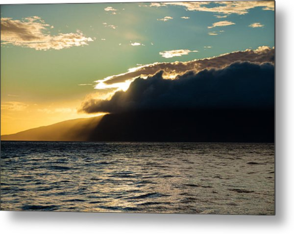 Sunset Over Lanai   Metal Print
