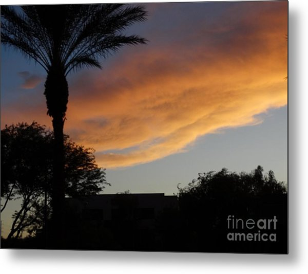 Sunset Over Las Vegas  Metal Print