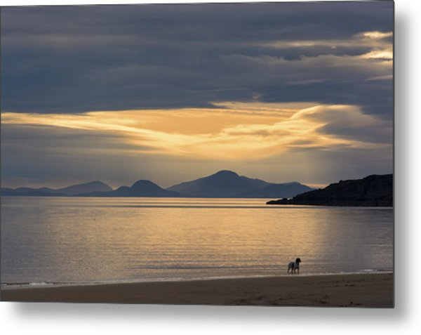 Sunset Over Lewis Metal Print