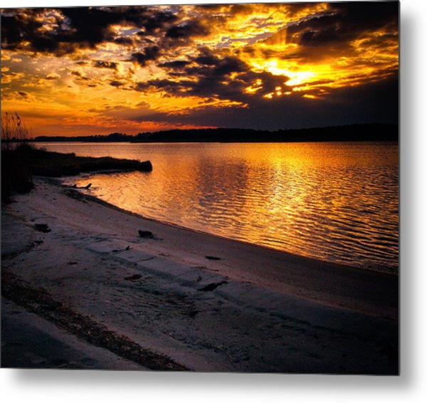 Sunset Over Little Assawoman Bay Metal Print
