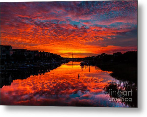 Sunset Over Morgan Creek - Wild Dunes Resort Metal Print