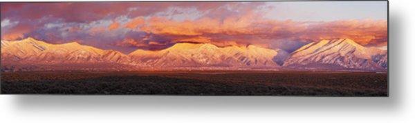 Sunset Over Mountain Range, Sangre De Metal Print