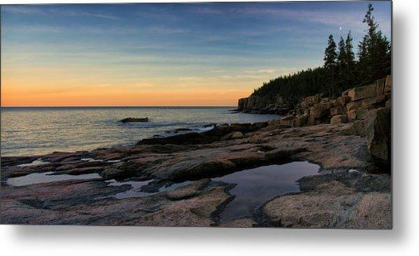 Sunset Over Otter Cliffs Metal Print
