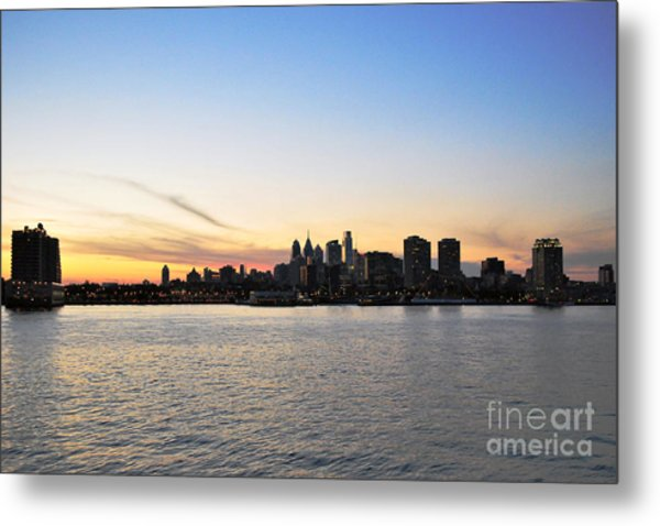 Sunset Over Philadelphia Metal Print