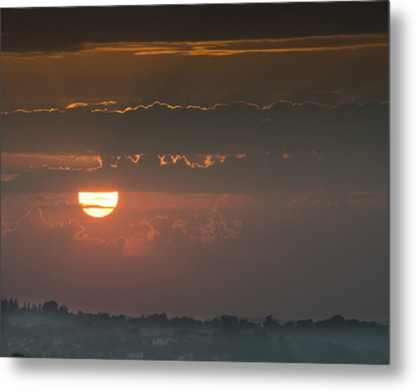 Sunset Over Rochester Metal Print