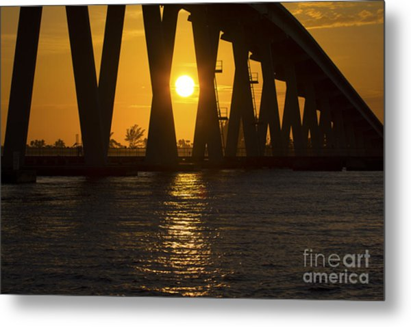 Sunset Over Sanibel Island Photo Metal Print