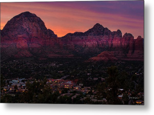 Sunset Over Sedona Az Metal Print