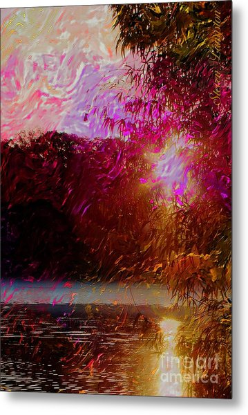 Sunset Over Soddy Metal Print by Steven Lebron Langston