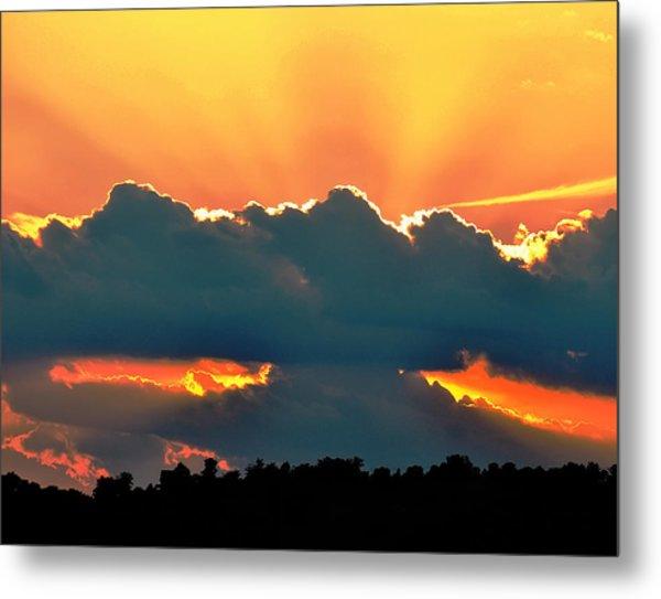 Sunset Over Southern Ohio Metal Print