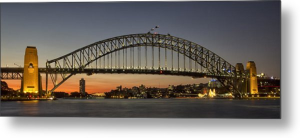 Sunset Over Sydney Harbour Bridge Metal Print by Kevin Hellon