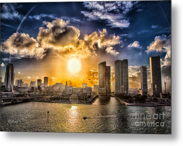 Sunset Over The Arena Hdr Metal Print