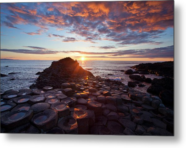 Sunset Over The Giants Causeway Metal Print by Gareth Mccormack