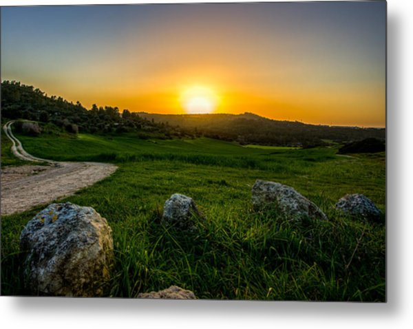 Sunset Over The Judean Hills Metal Print