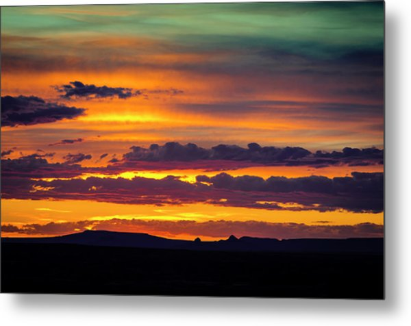 Sunset Over The Painted Desert Metal Print