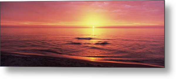 Sunset Over The Sea, Venice Beach Metal Print